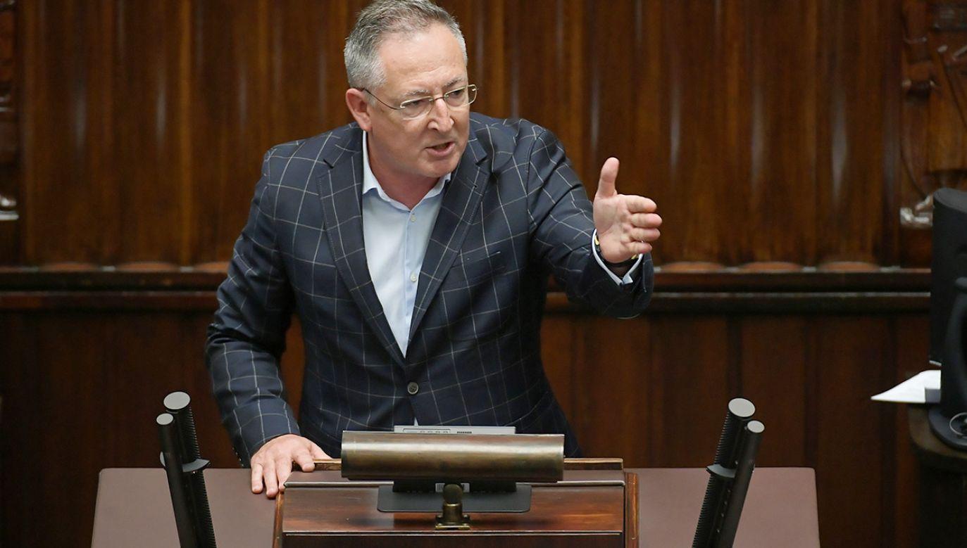 Bartłomiej Sienkiewicz atakuje TVP Info (fot. PAP/Marcin Obara)