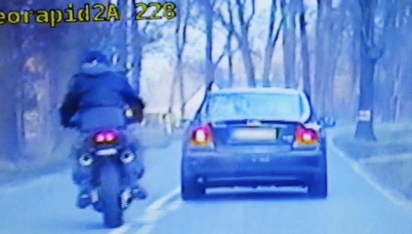 Do pościgu za motocyklistą doszło w poniedziałek w Zielonej Górze (fot. Policja lubuska)