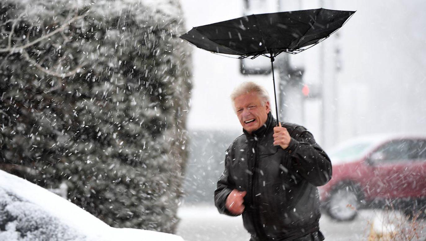 Najcięższy śnieg do 36 cm prawdopodobnie spadnie między Massachusetts a Maine. (fot. Joe Amon/MediaNews Group/The Denver Post via Getty Images)
