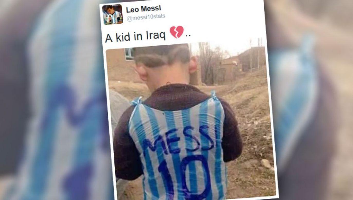 O Murtazie Ahmadim zrobiło się głośno po zdjęciach w koszulce Messiego zrobionej z torebki (fot. TT/Leo Messi)