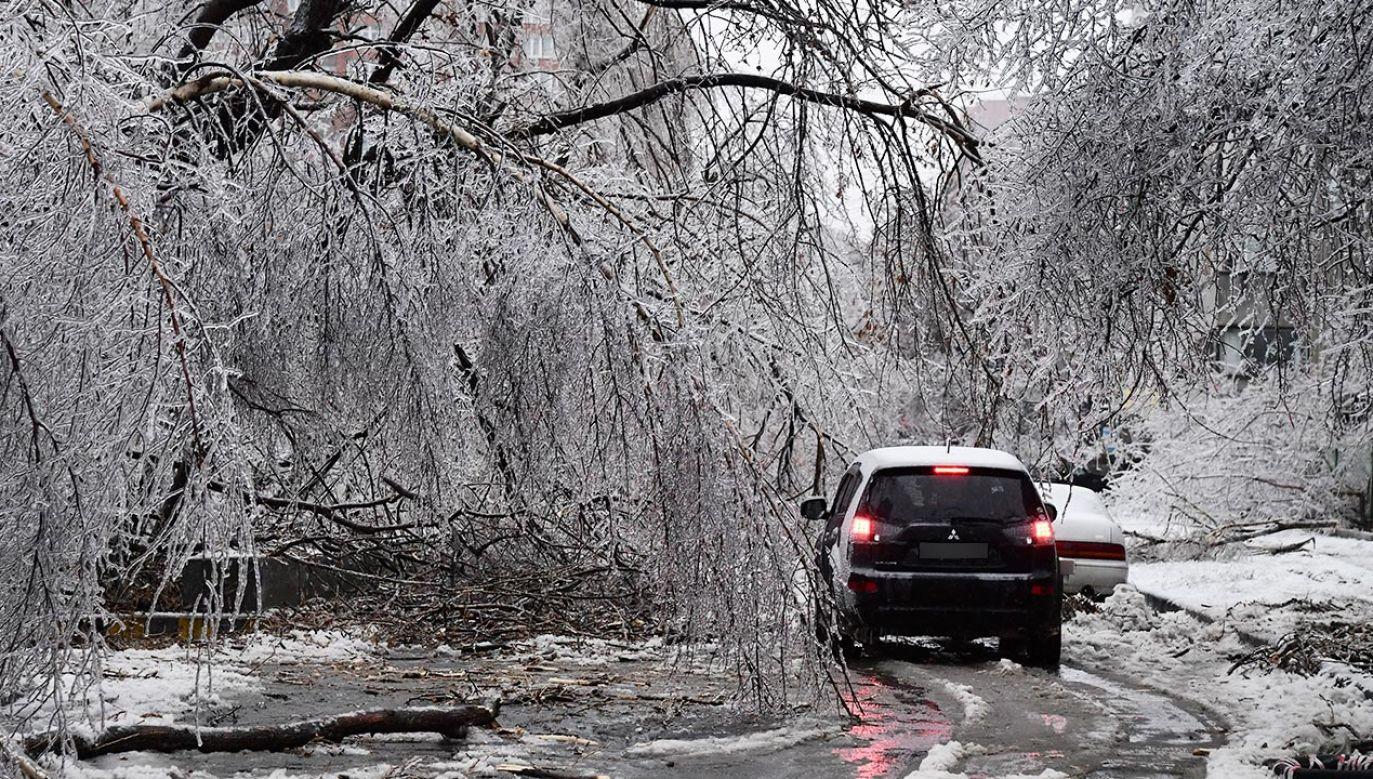 Niebezpiecznie będzie szczególnie na drogach (fot. Yuri Smityuk\TASS via Getty Images)