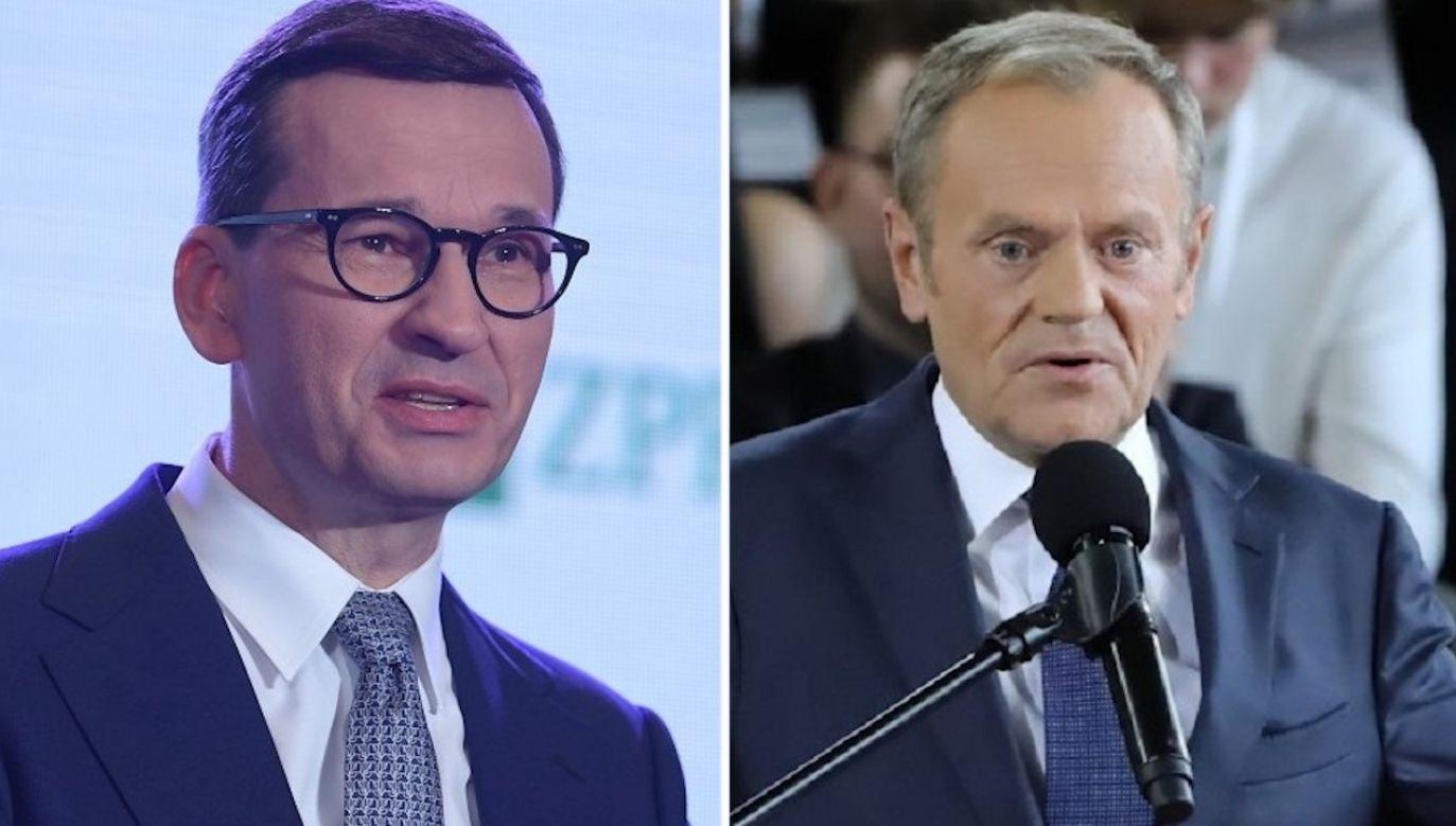 Premier wspomniał ulubione zajęcia poprzedniego premiera (fot. PAP/Marcin Obara, Wojciech Olkuśnik)