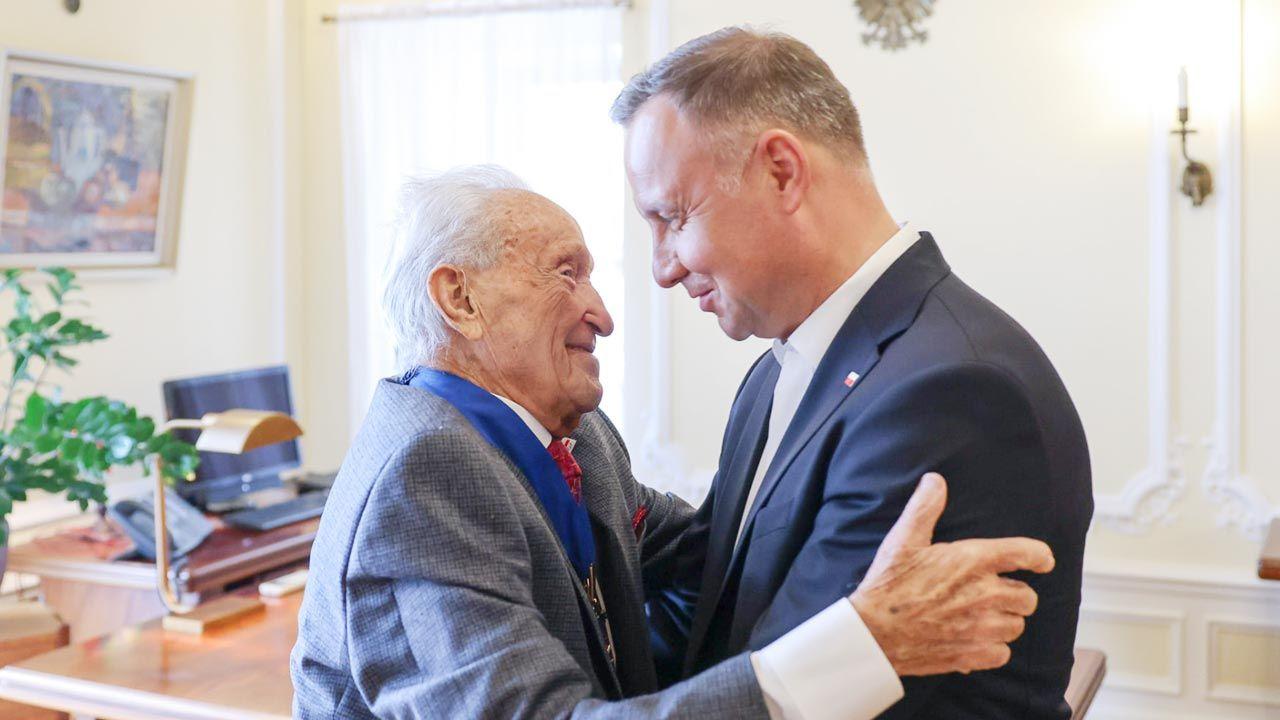 Prezydent RP spotkał z Edwardem Mosbergiem (fot. Jakub szymczuk/KPRP)
