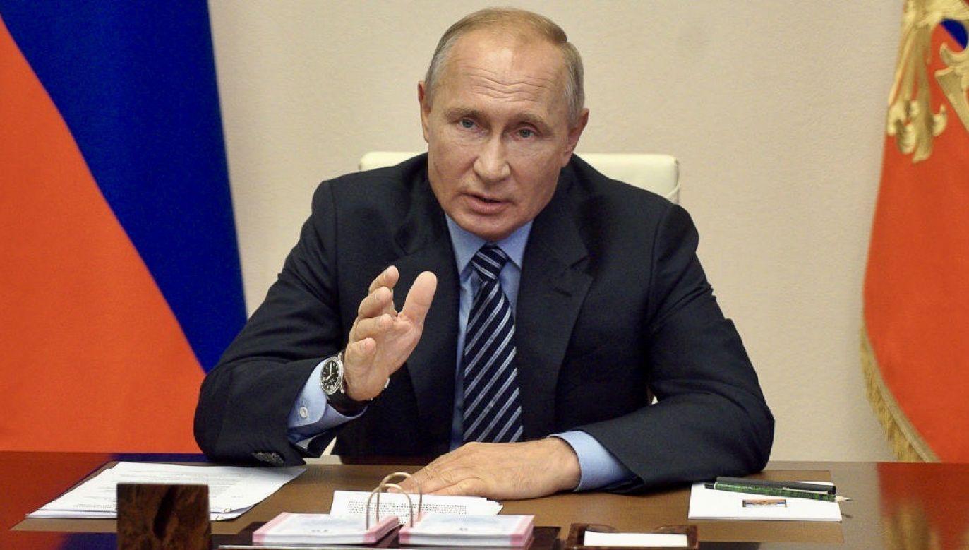 Prezydent Władimir Putin ogłosił referendum w sprawie zmian w konstytucji (fot.  Alexei Druzhinin\TASS via Getty Images)