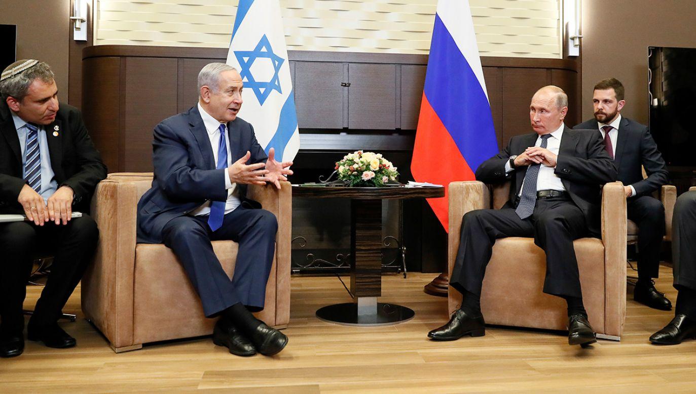 Premier Netanyahu złożył w Rosji już trzecią wizytę w tym roku (fot. PAP/EPA/SHAMIL ZHUMATOV / POOL)