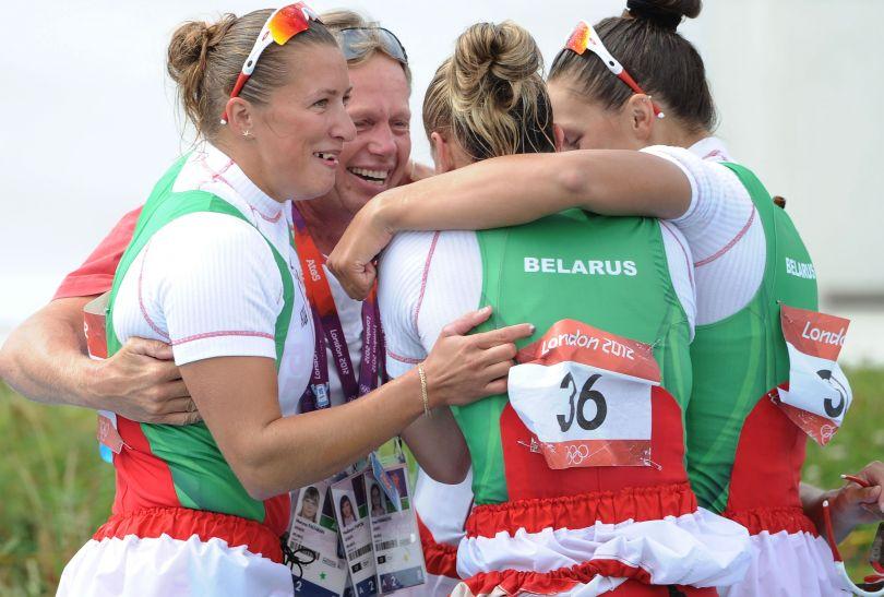 Białorusinki w K4 zdobyły brązowy medal (fot. Getty Images)