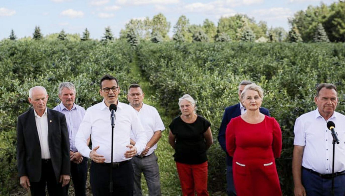 Mateusz Morawiecki podczas wizyty na Podlasiu (fot. Krystian Maj/KPRM)