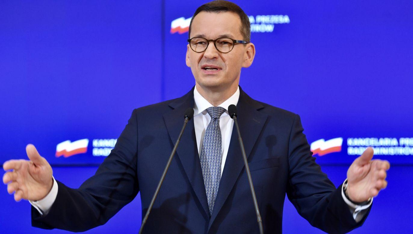 Premier Morawiecki zareagował na list ambasadorów (fot. PAP/Radek Pietruszka)