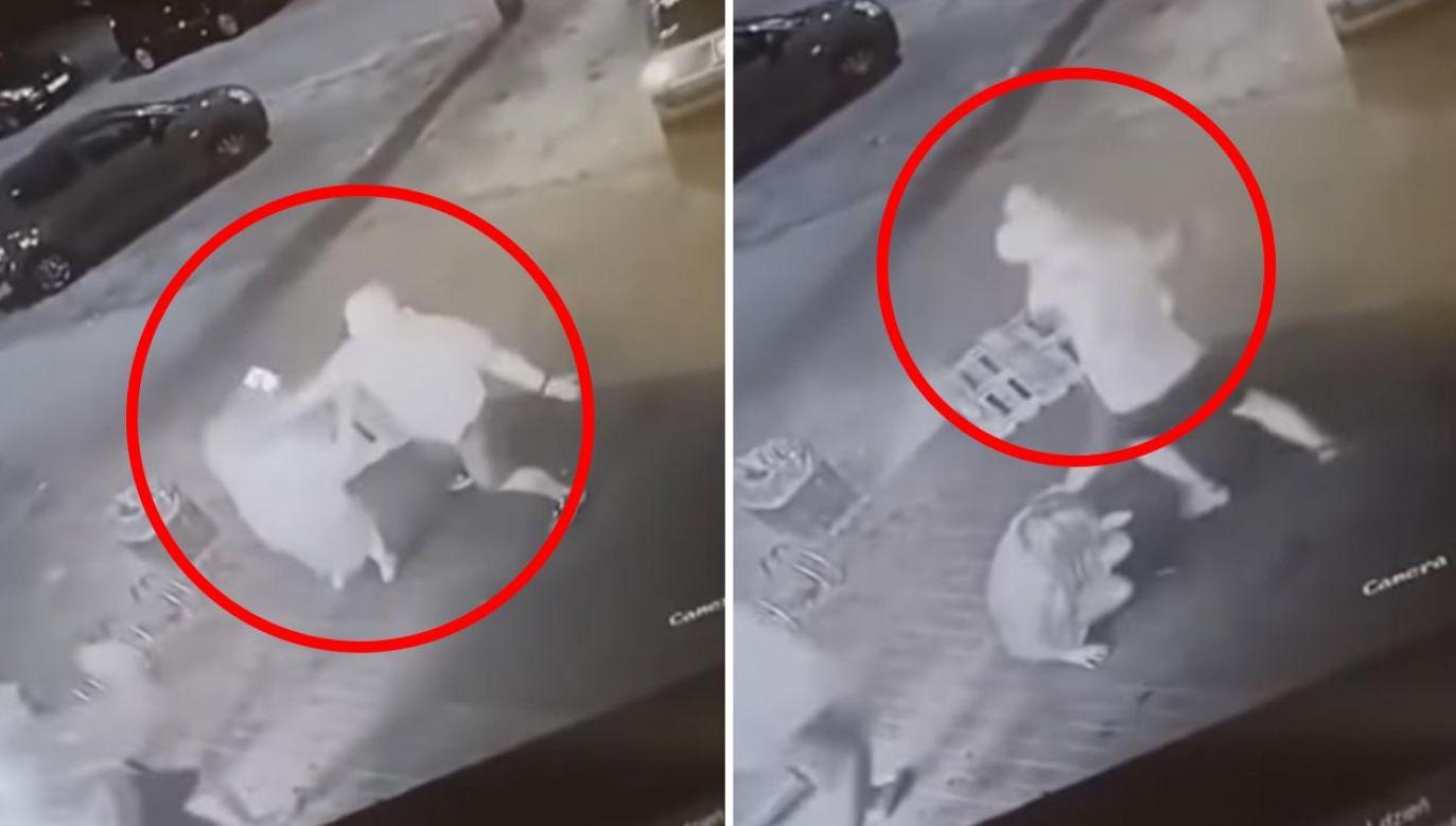 38-latek bił, kopał po głowie i rzucał drewnianą paletą w kobietę (fot. YouTube/uniwersal 90)