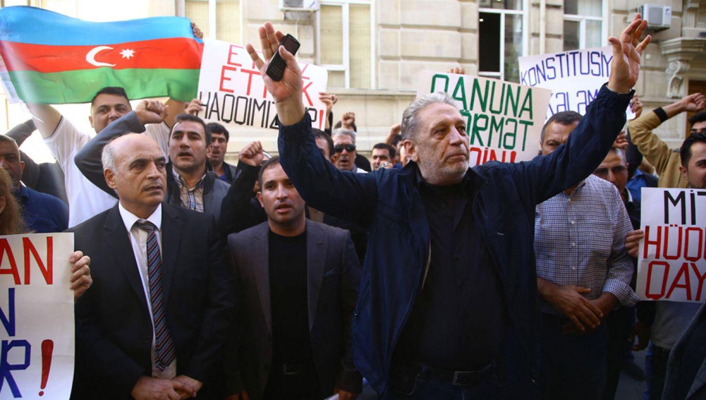 Azerska opozycja oskarża władze o fałszerstwa wyborcze (fot. arch.PAP/AA/ABACA)