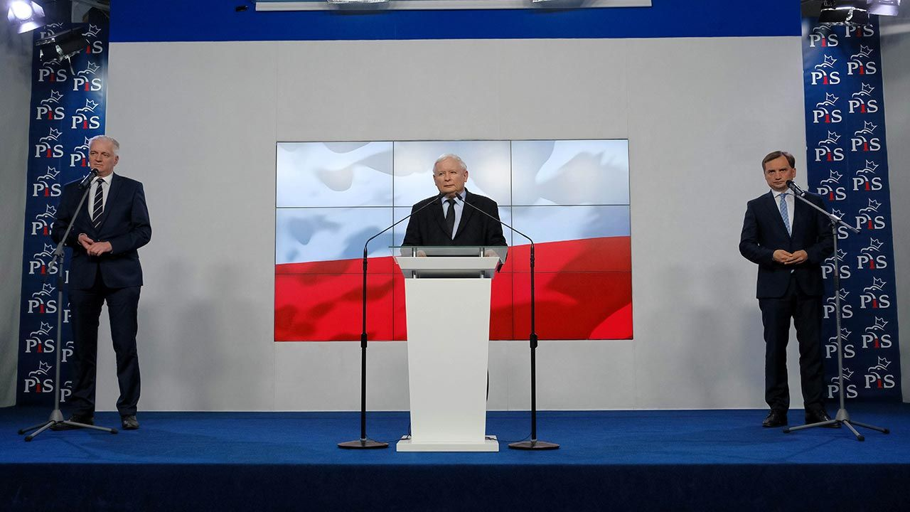 Kulisy spotkania prezesa PiS z koalicjantami (fot. PAP/Mateusz Marek)