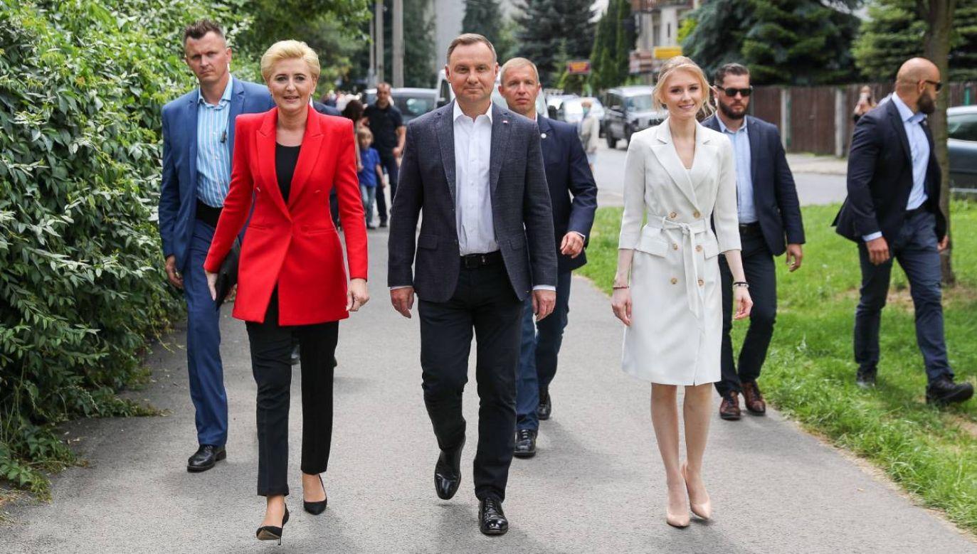 Andrzej Duda wraz z rodziną głosował w Krakowie (fot. Grzegorz Jakubowski/KPRP)