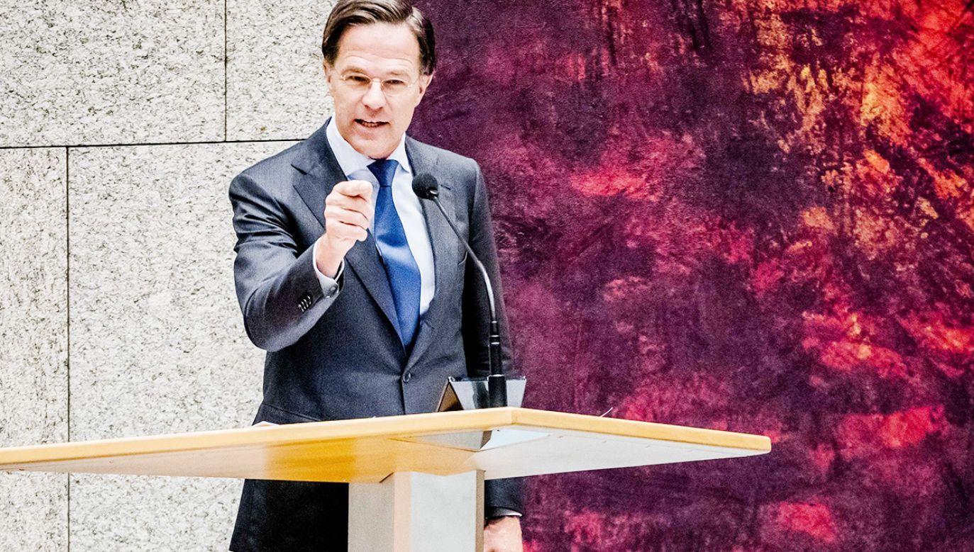 Mark Rutte zagroził Węgrom wykluczeniem z Unii (fot. PAP/EPA/BART MAAT)
