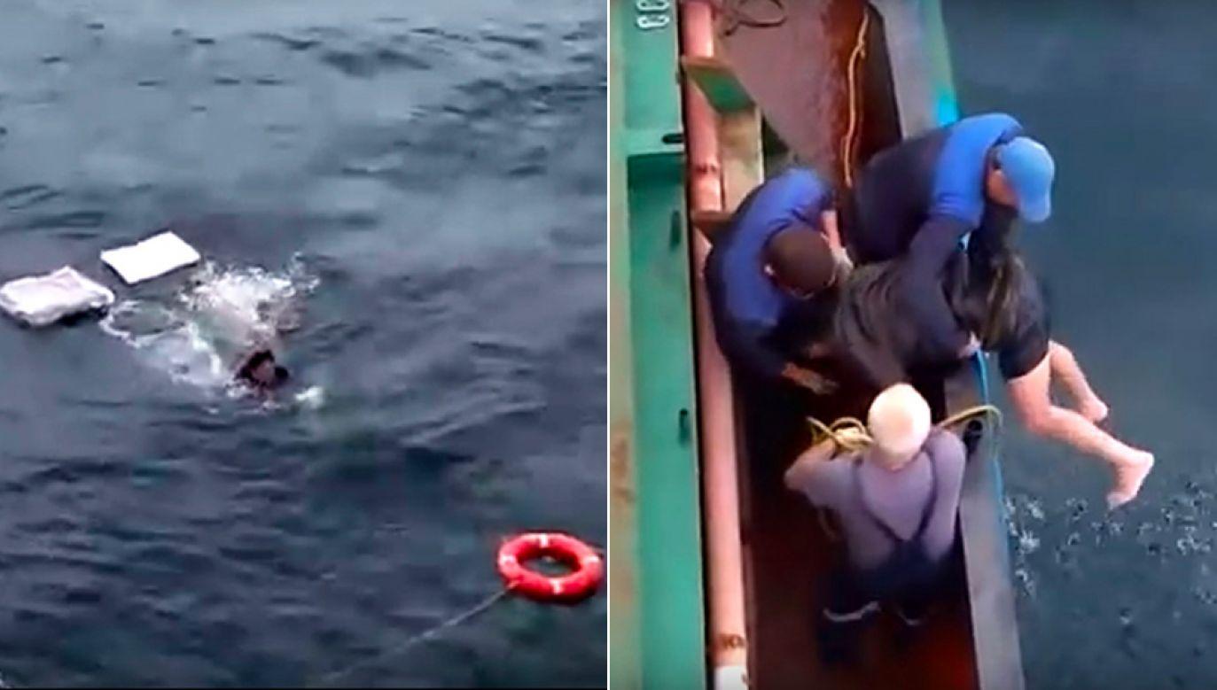 Mężczyzna został przekazany straży granicznej (fot. YT/Video Desk)