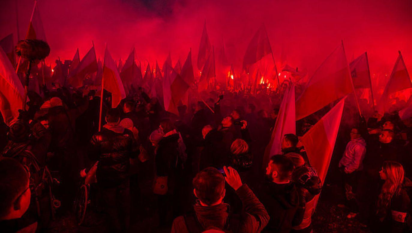 Marsz Niepodległości (fot. Maciej Luczniewski/ Getty Images)