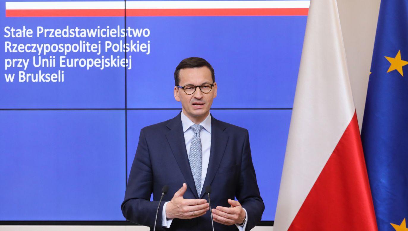 Premier powiedział, że narodowość mediów ma znaczenie, a obiektywność mediów jest fundamentem demokracji (fot. PAP/Paweł Supernak)