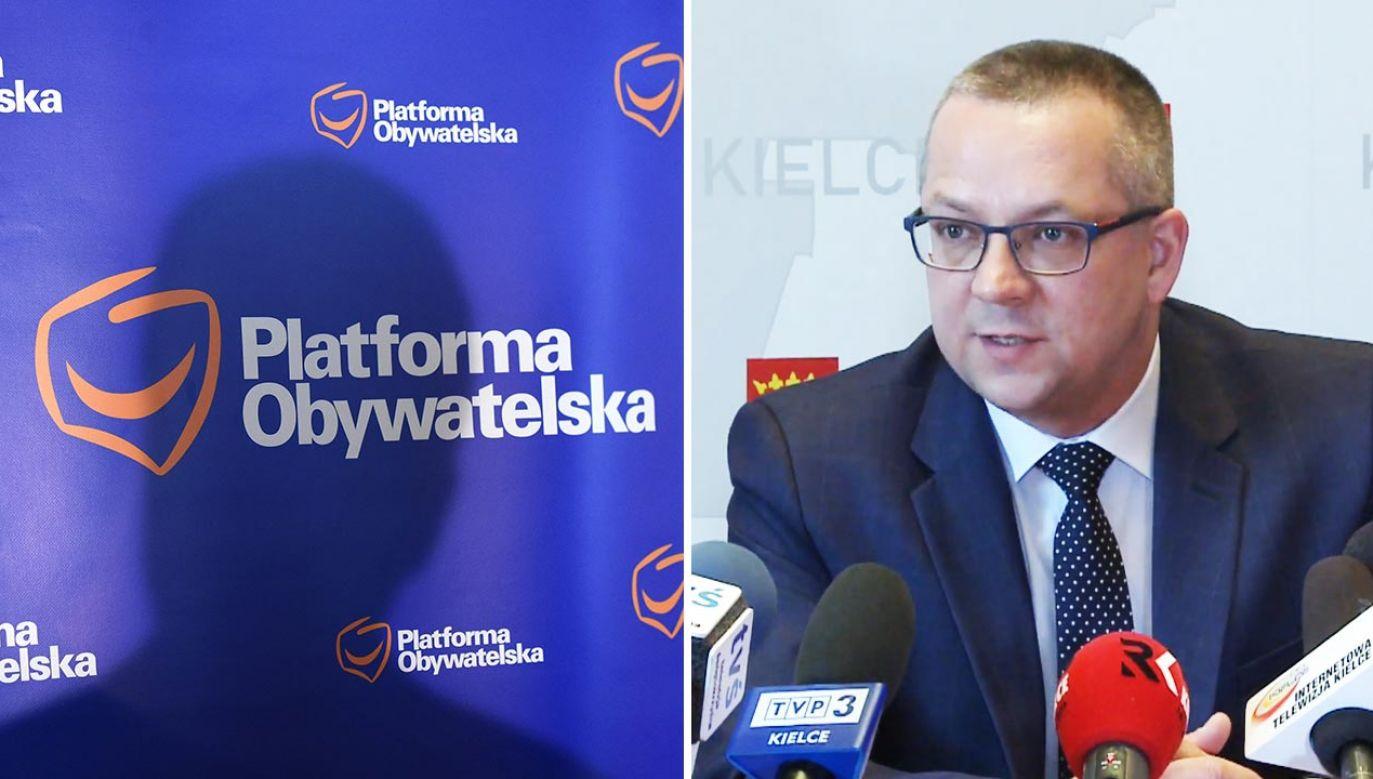 """Kubiec wskazał """"od dłuższego czasu dostrzegał deficyt dyskusji"""" (fot. PAP/Radek Pietruszka; YouTUbe/iTV Kielce)"""
