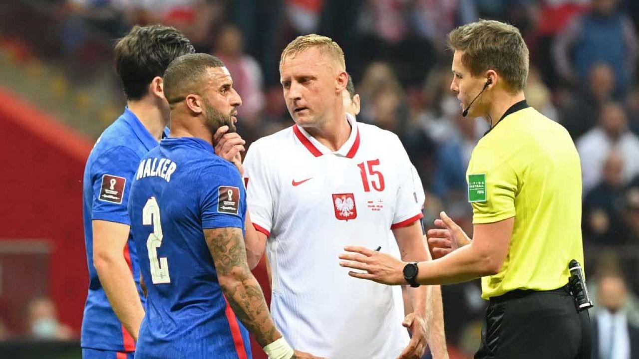Kamil Glik i Kyle Walker (fot. Ludmila Mitrega - The FA/The FA via Getty Images)