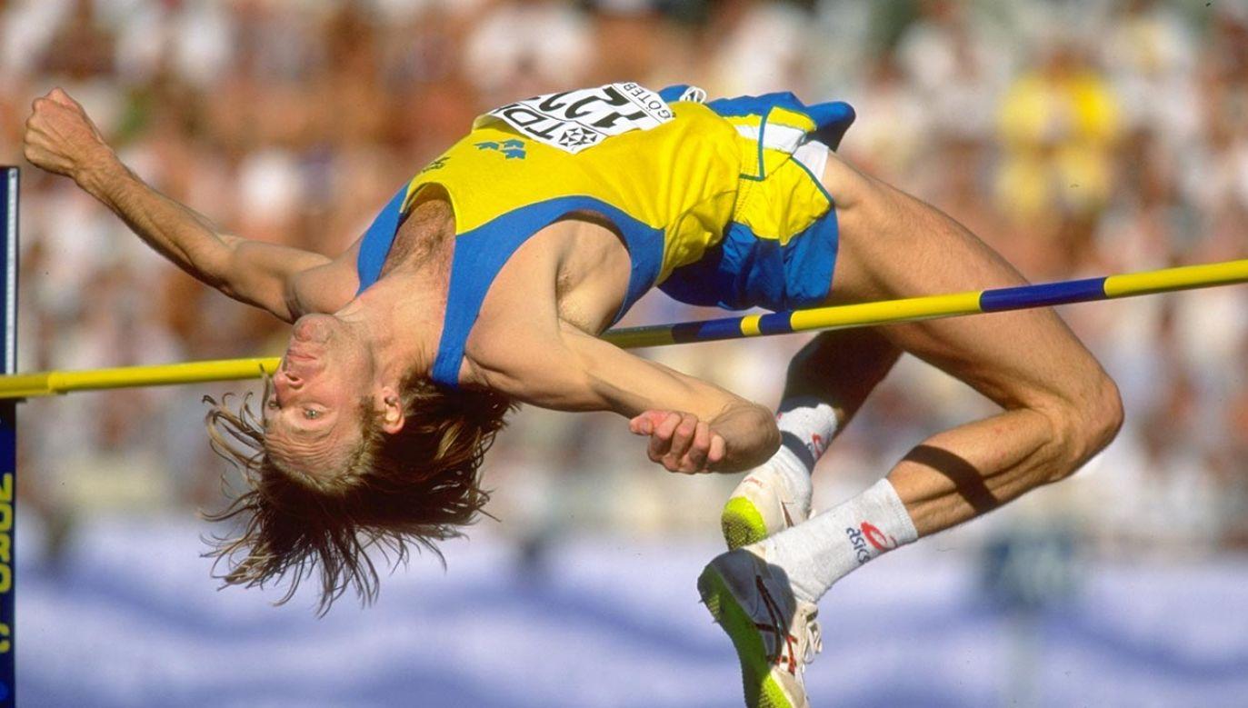 Patrik Sjoeberg był trzykrotnym medalistąolimpijskim w skoku wzwyż (fot.  GettyImages/Gary M Prior/Allsport)