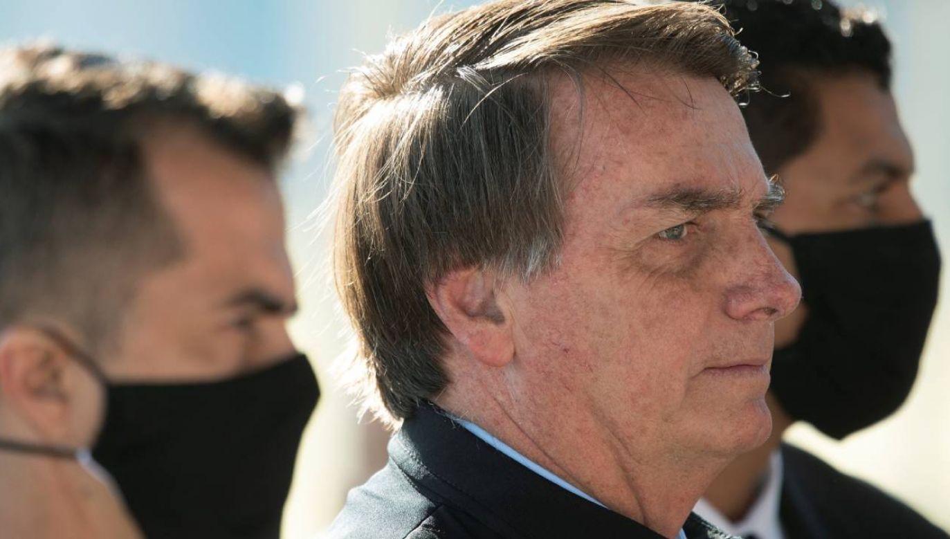 Opozycja z powodu pandemii nie rozpocznie procesu impeachmentu prezydenta Jaira Bolsonaro (fot. PAP/EPA/JOEDSON ALVES)