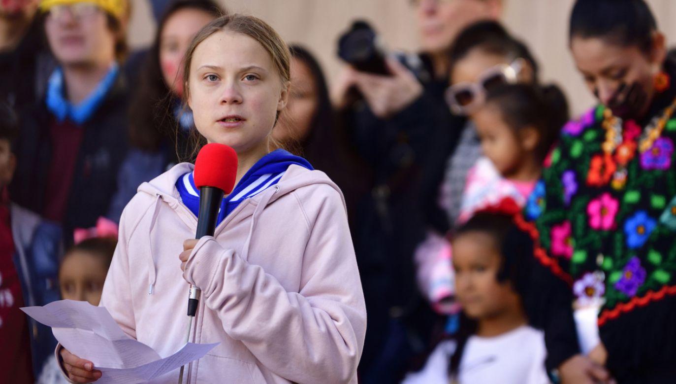 Uczestnikiem manifestacji  była młoda szwedzka aktywistka Greta Thunberg (fot. PAP/EPA/Bob Pearson)