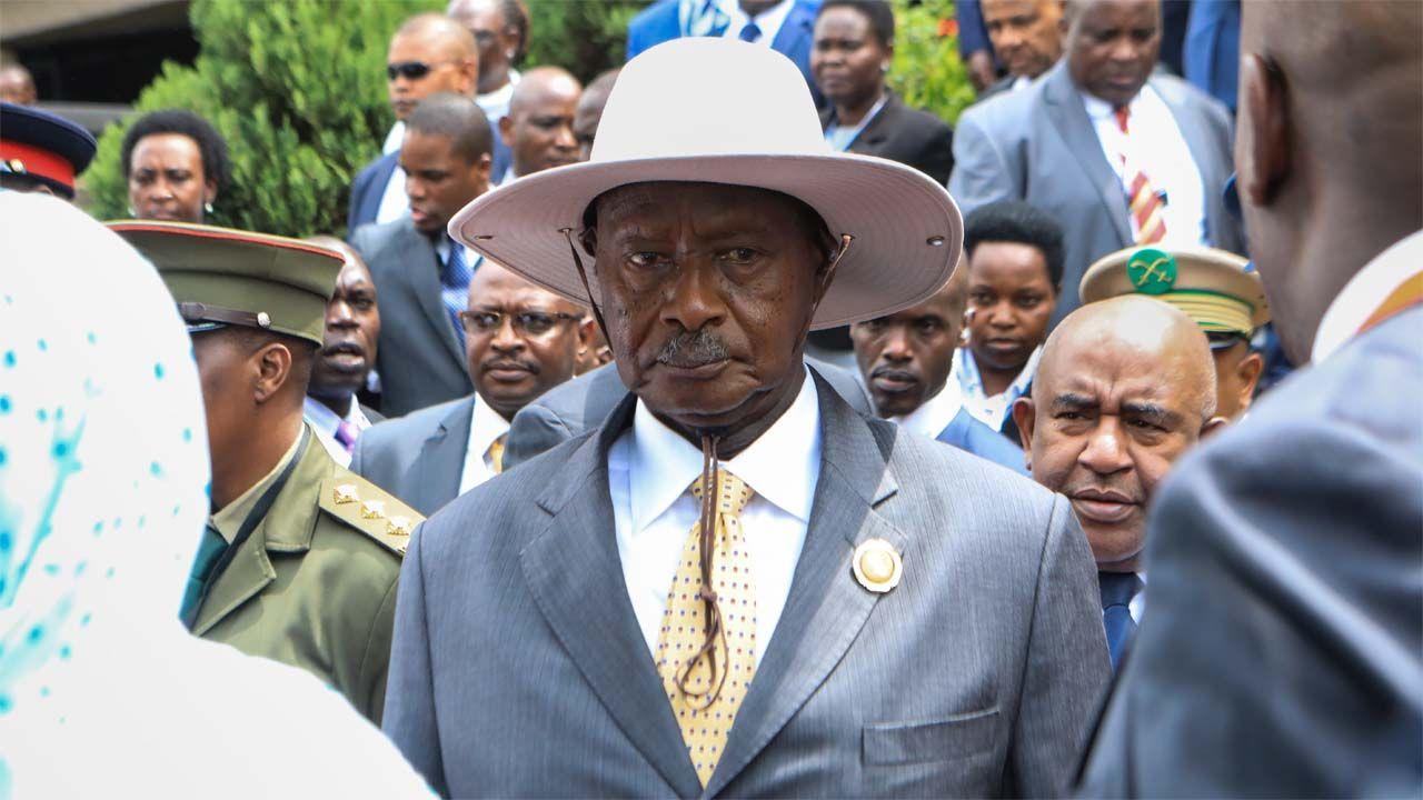 Yoweri Museveni nie zamierza oddawać władzy (fot. PAP/EPA/DANIEL URUNGU)