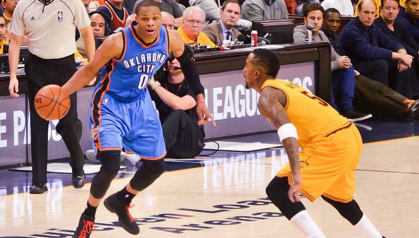 Russell Westbrook to jedna z największych gwiazd NBA (fot. Wiki 2.0/Erik Drost)