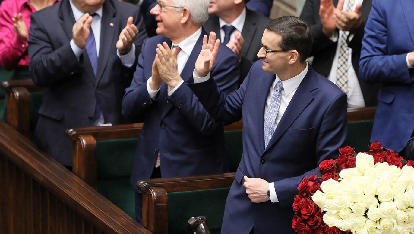 Po exposé premier będzie prosił o udzielenie wotum zaufania nowemu rządowi (fot. PAP/Paweł Supernak)