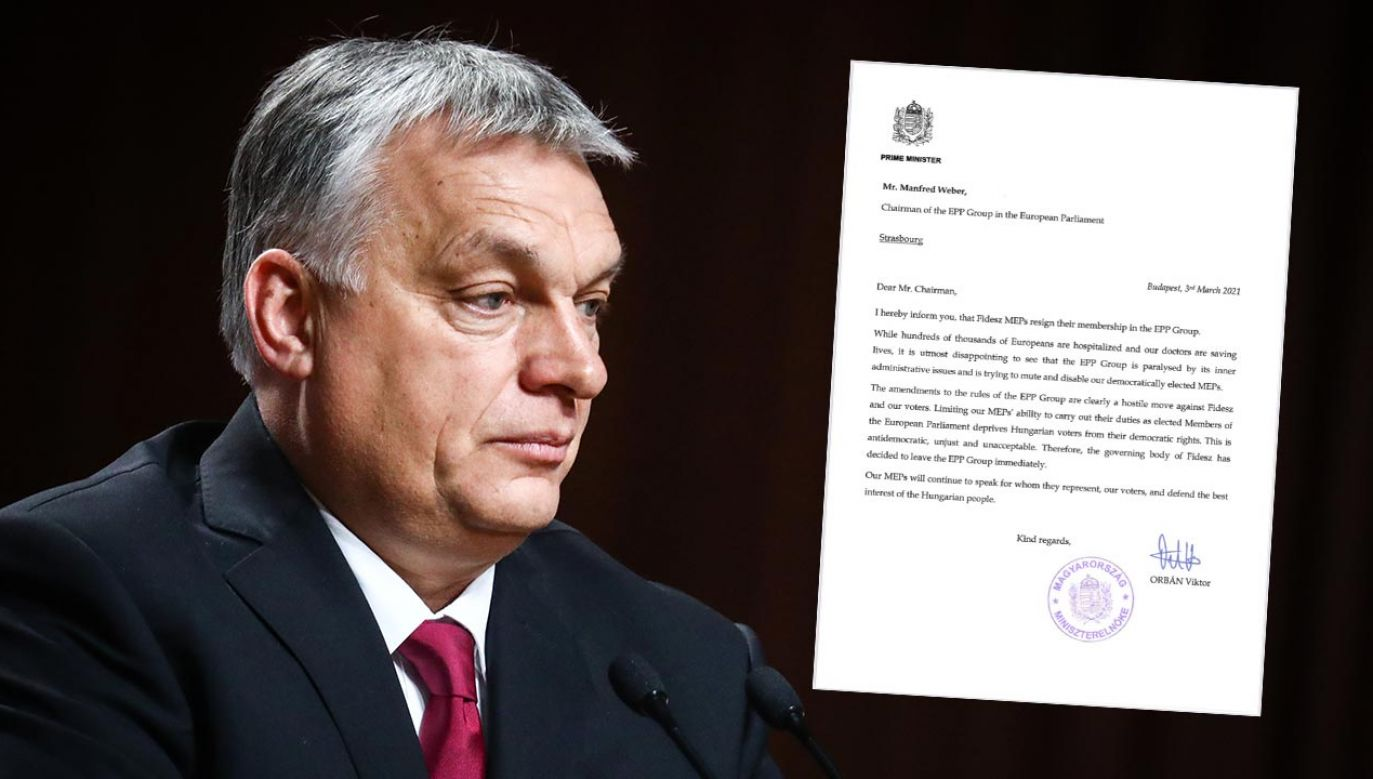 List Viktora Orbana do Manfreda Webera (fot. Beata Zawrzel/NurPhoto via Getty Images)