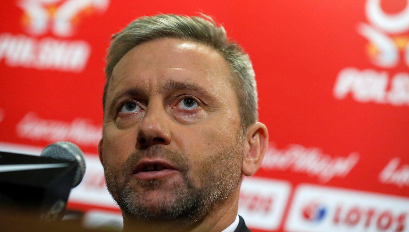 Trener polskiej reprezentacji Jerzy Brzęczek (fot. . REUTERS / Kacper Pempel)