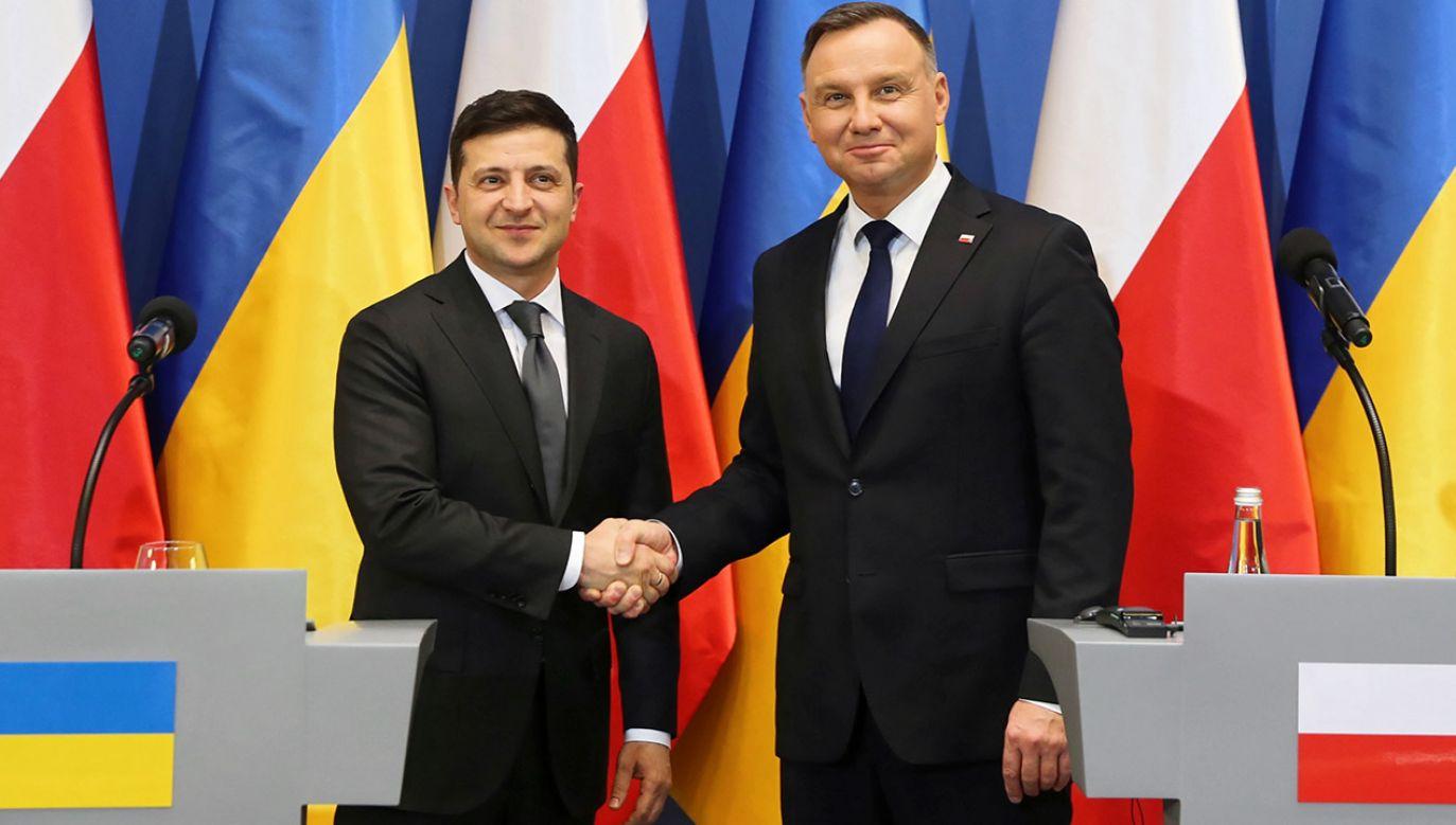 """Zdaniem """"Kommiersanta"""" ukraiński prezydent """"faktycznie uznał wspólną odpowiedzialność Niemiec i ZSRR za wybuch wojny"""" (fot. PAP/Andrzej Grygiel)"""