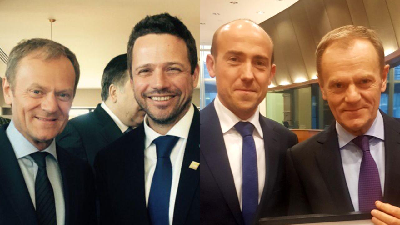 Rafał Trzaskowski, Donald Tusk i Borys Budka (fot. Facebook / Borys Budka; Twitter / Rafał Trzaskowski)