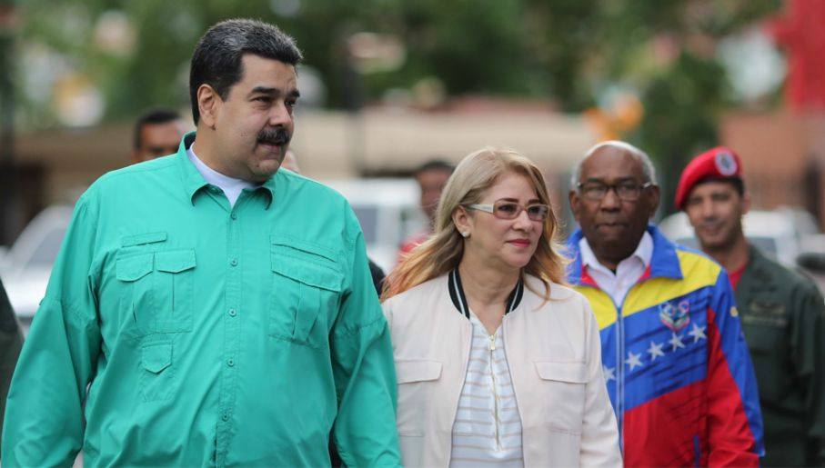 Nicolas Maduro rządzi jak dyktator (fot. PAP/EPA/MIRAFLORES PALACE/HANDOUT)