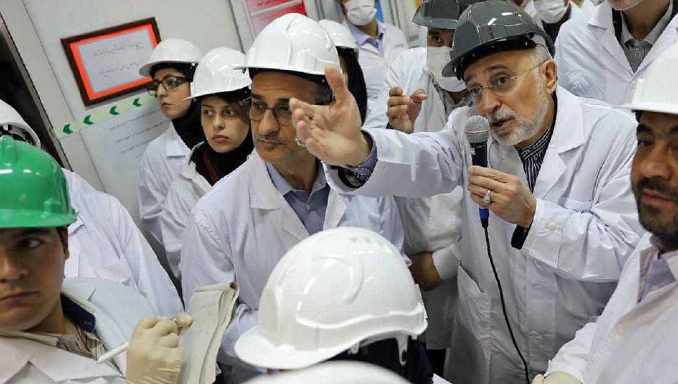 Ian ma nie wywiązywać się z porozumienia nuklearnego (fot. PAP/EPA/Iran Atomic Energy Organization HO HANDOUT)