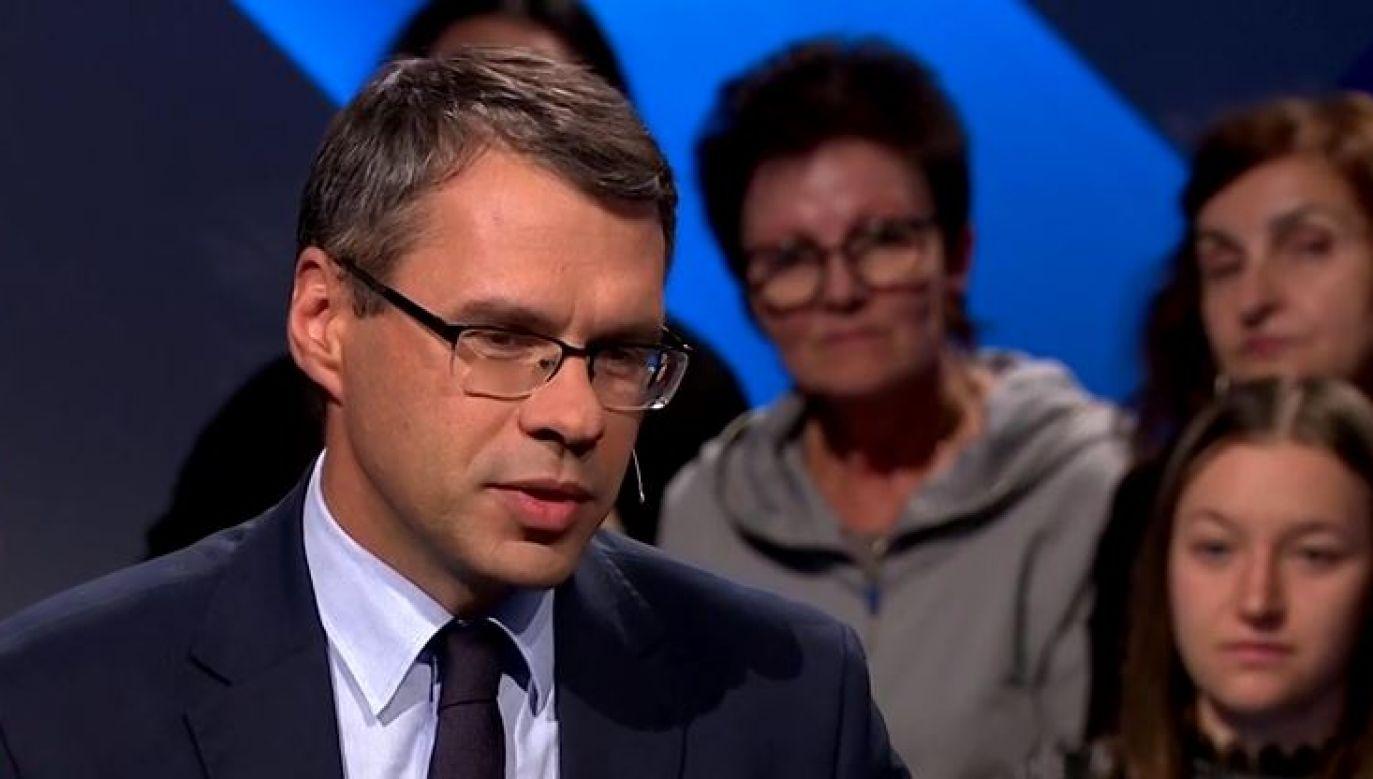 Michał Karnowski był gościem TVP Info (fot. portal tvp.info)