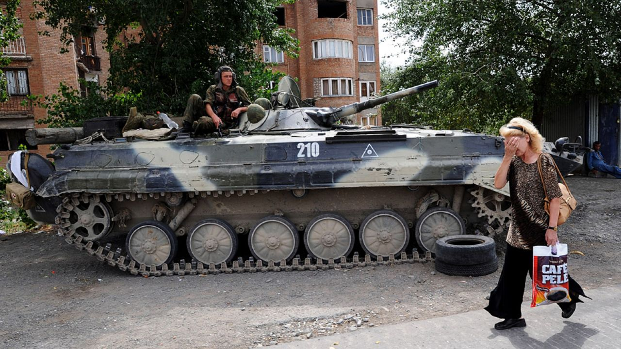 Rosja sprowokowała wojnę w Gruzją (fot. Burak Kara/Getty Images)