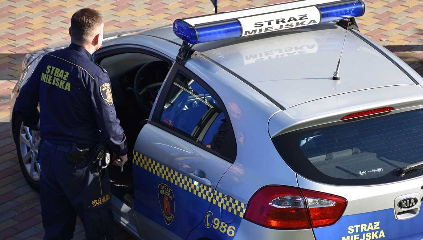 Strażnicy Miejscy, którzy w poniedziałek wieczorem tankowali paliwo do radiowozu na jednej ze stacji w Warszawie, musieli interweniować w sprawie pijanego mężczyzny (fot. Shutterstock/OleksSH)