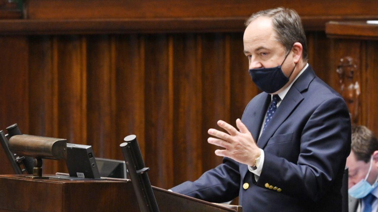 Minister ds. UE Konrad Szymański (fot.TT/Sejm RP)