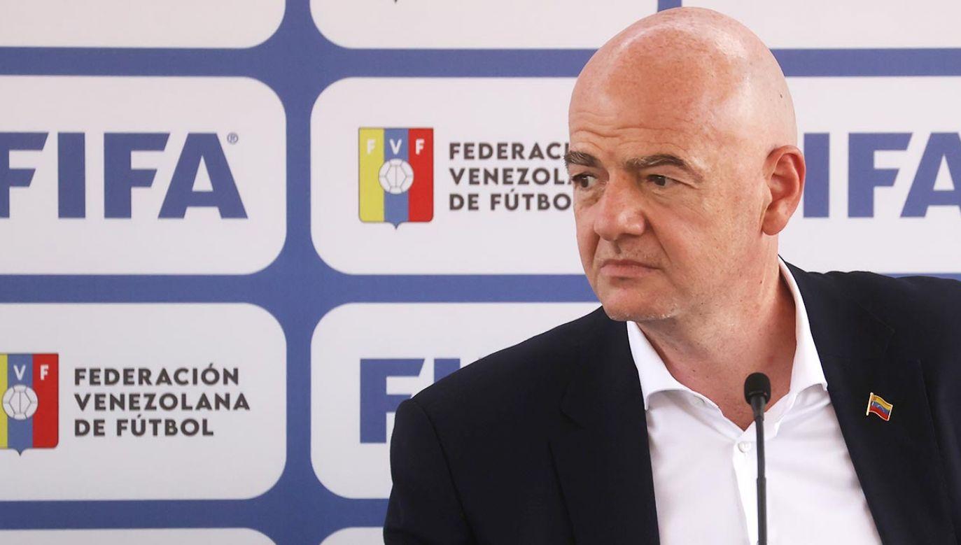 Szef FIFA Gianni Infantino (fot. PAP/EPA/Miguel Gutierrez)